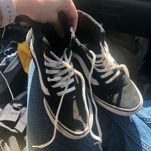 Vans women's high top canvas shoes black 5.5